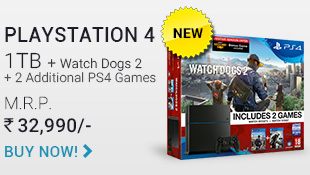 PS4 1 TB + Watch Dogs