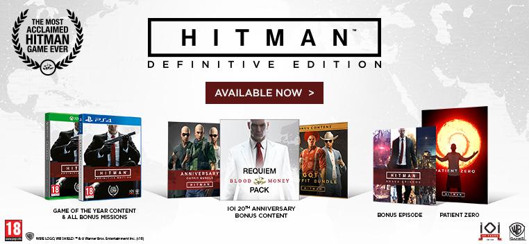 Hitman Definitive Steelbook Edt ON