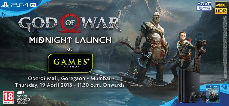 God of war Midnight Launch