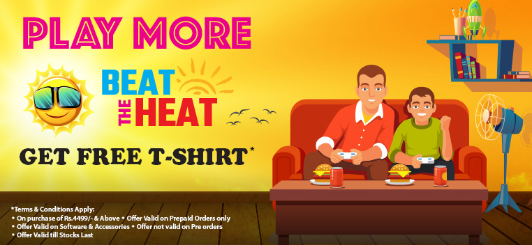 Play More Beat The Heat & Get T-Shirt Free